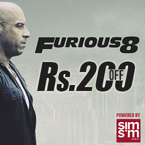 Save Rs.200 on Furious 8 Tickets