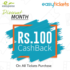 RS.100 CASH BACK ON ALL TICKETS!