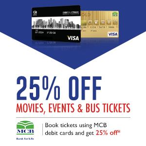 SAVE 25% VIA MCB DEBIT CARDS